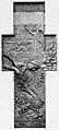 Vautier-Denkmal, Grabrelief in Form eines Kreuz, Karl Janssen, 1898, ehemals auf dem Nordfriedhof Düsseldorf.jpg