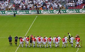History of F.C. Copenhagen - 2001: FCK playing Vejle Boldklub in Parken.