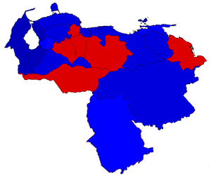 Venezuelan parliamentary election, 2015 - Results of the list vote by state.