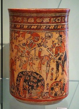 Xibalba - Vessel depicting deities in the court of Xibalba