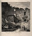 Vestibulum, Spalato (Split); interior ruins. Engraving by F. Wellcome V0014511.jpg