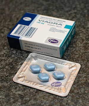 Viagra is a commercial produced medicine conta...