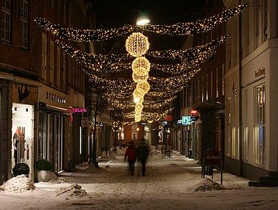 Christmas street illumination in viborg