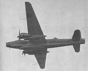 Airborne lifeboat - A Vickers Warwick bomber carrying the Uffa Fox-designed airborne lifeboat underneath