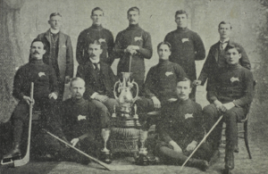 Tom Howard (ice hockey) - Howard, second from right in the middle row, with the 1899 Winnipeg Victorias.