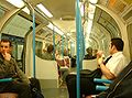 Victoria Line carriage - internal - night - London - 240404.jpg