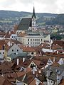 View from Krumlov Castle bridge - panoramio.jpg