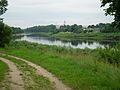 View from Latvia to the Church of the Holy Trinity and the Monastery of Bernardine in Druja - panoramio.jpg