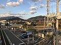 View from overpass of Kajikuri-Godaichi Station.jpg