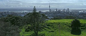 View of Auckland from outside city