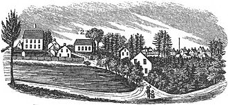 Patchogue, New York - Sketch of early Patchogue
