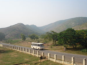 Rajgir - View of Rajgir hills from Jarasandha's Akhara