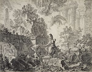 "Baths of Titus - G.B. Piranesi ""View of the Baths of Titus"""