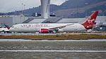Virgin Atlantic Boeing 787-9 Dreamliner G-VFAN taxiing to the gate (30229445023).jpg