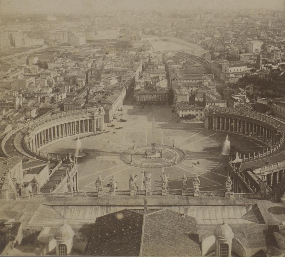 Vista de Roma a partir da Basílica de São Pedro
