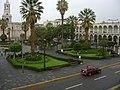 Vista de la Plaza de Armas de Arequipa desde la parte alta.jpg