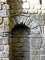 Vitré (35) Château Façade romane 04.JPG