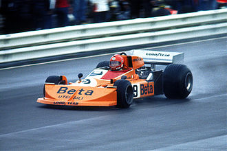 Vittorio Brambilla - Brambilla driving a March 761 at the 1976 German Grand Prix.