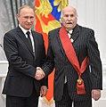 Vladimir Putin and Vladimir Zeldin Kremlin 21 May 2015 (cropped).jpg