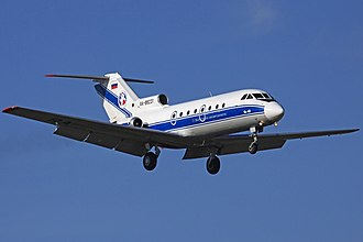 Volga-Dnepr Airlines - Volga-Dnepr Yak-40 landing at Moscow - Vnukovo Airport