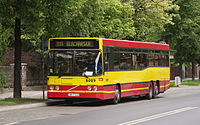 Volvo B10BLE 6x2 in service for MPK Wroclaw (Poland, June 2012).jpg