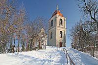 Vrbčany - kostel Svatého Václava se zvonicí.jpg