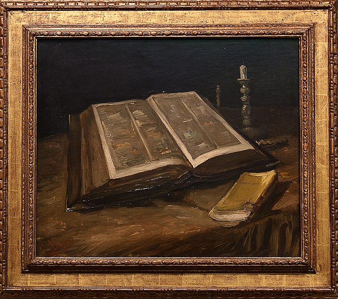 File:WLANL - MicheleLovesArt - Van Gogh Museum - Still life with bible, 1885.jpg