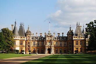 English country house - Waddesdon Manor. During the Victorian era, vast country houses by wealthy industrialists and bankers were built in a variety of styles