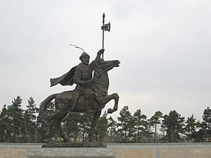 Harbin - Monument of Wanyan Aguda in Acheng District