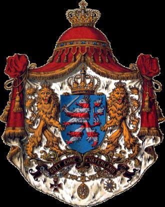 Coat of arms of Hesse - Image: Wappen Deutsches Reich Grossherzogtum Hessen