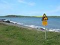 Warning Sign at Finnarts Bay - geograph.org.uk - 421529.jpg