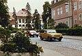 Wartburg 353S and Lada Samara 2108 on a street in Arnstadt, East Germany, August 1989.jpg