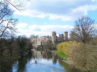 Ambrose Dudley, 3rd Earl of Warwick - Warwick Castle, the ancient seat of the Earls of Warwick. Ambrose Dudley welcomed Queen Elizabeth at the castle in 1572.