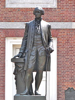 statue of George Washington, by Joseph A. Bailly