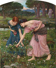 Gather Ye rosebuds While Ye May, by John William Waterhouse, (1909)