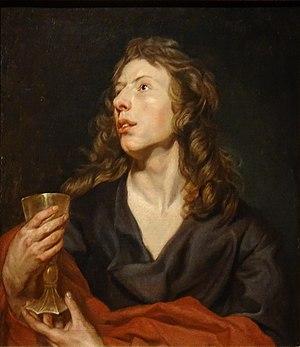 Portrait historié of a Young Man as John the Evangelist