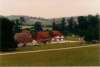 Weald and Downland Living Museum - A group of buildings at the Museum's Market Square
