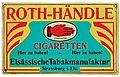 Werbeschild für Roth-Händle Cigaretten, Blechschild, um 1910.jpg