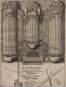 Title page of Andreas Werckmeister, Orgelprobe (1698). (Source: Wikimedia)