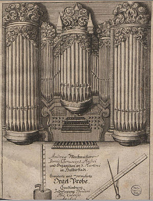 Andreas Werckmeister - Title page of Andreas Werckmeister, Orgelprobe (1698).
