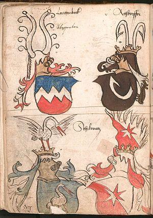 Tincture (heraldry) - Image: Wernigeroder Wappenbuch 202