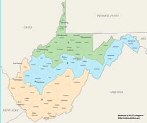 West Virginia S Congressional Districts Wikipedia