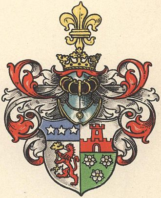 Forcade - Forcade-Biaix Coat of Arms, Westphalia Branch, date unknown, pre-1900