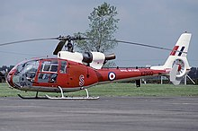 A Westland Gazelle HT.3 of No. 2 Flying Training School, used by the RAF for training prior to 1997.