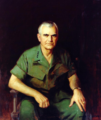 William Westmoreland - Herbert Elmer Abrams' portrait of General Westmoreland