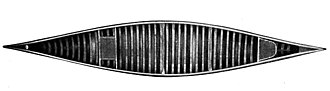 E.M. White Canoe Company - image from 1915 catalog showing D-shaped rear seat