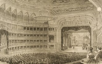 Vienna State Opera - Coeval watercolour painting of the opening performance (Kunsthistorisches Museum)