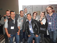 Wikimedia Polska at Wikimania 2015 by Maire 04.JPG