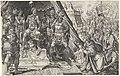 Willem II, hertog van Gelre, onderwerpt zich aan het gezag van Karel V, 1543 Overwinningen van Karel V (serietitel) Divi Caroli. V. imp. opt. max. victoriae, ex multis praecipuae (serietitel), RP-P-BI-6619.jpg