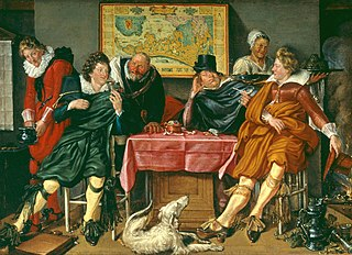 Merry company term in art history for a painting showing a small group of people enjoying themselves